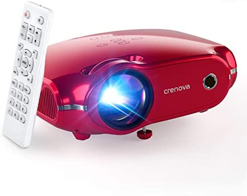 """Crenova Mini Projector, 1080P Full HD Supported Video Projector, 4500 Lux LED Movie Projector for Home Theater, Portable Outdoor Projector with Max 200"""" Projection Size, Compatible with iOS/Android"""