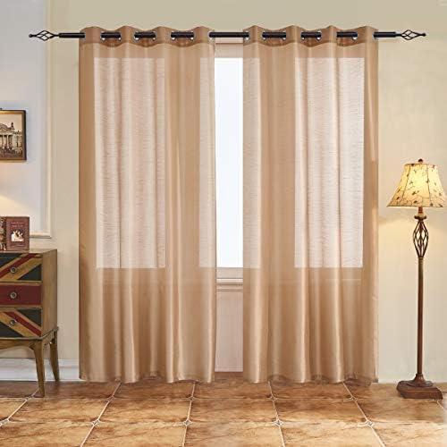 subrtex Semi Sheer Curtain Blackout Voile Draperies Window Treatment