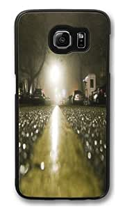 Asphalt City Rain Custom Samsung Galaxy S6/Samsung S6 Case Cover Polycarbonate Black