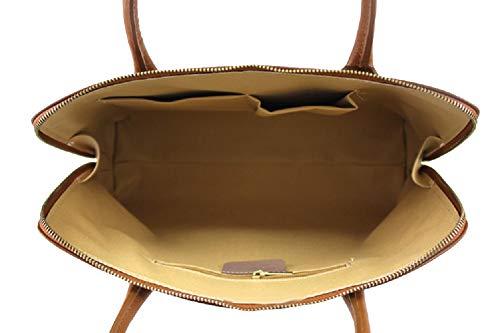 en fabriqué main Sac femme véritable cuir Carele Bottega cognac Marron Italie à en FgwqAqWn