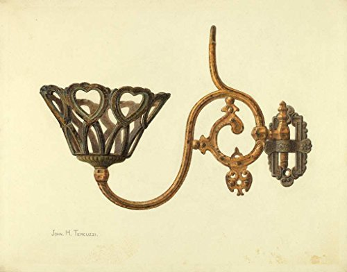 Swinging Wall Lamp (Artist: John H. Tercuzzi | Design: Swinging Lamp Bracket | Date: c. 1940 | Vintage Fine Art Print)