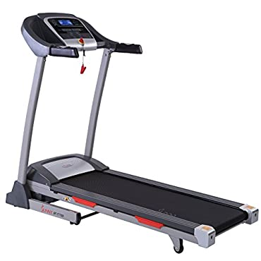 Sunny Health & Fitness Portable Treadmill with Auto Incline, LCD, Smart APP and Shock Absorber SF-T7705