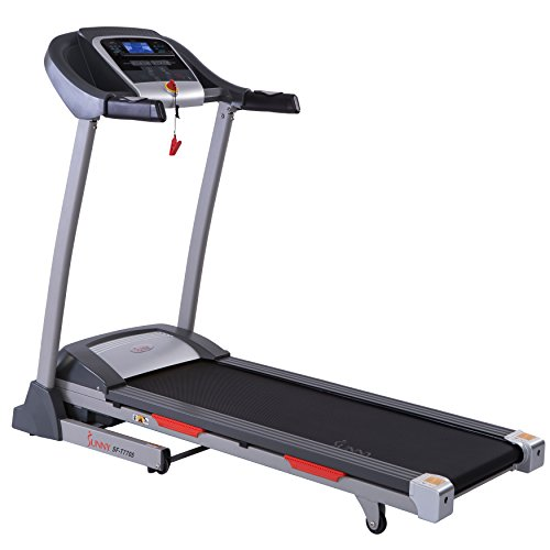Sunny Health & Fitness Portable Treadmill Auto Incline, LCD, Smart APP Shock Absorber – SF-T7705