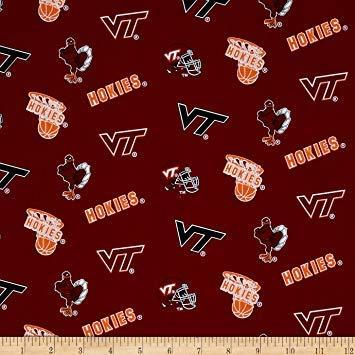 Sykel Enterprises Collegiate Cotton Broadcloth Virginia Tech Fabric By The -