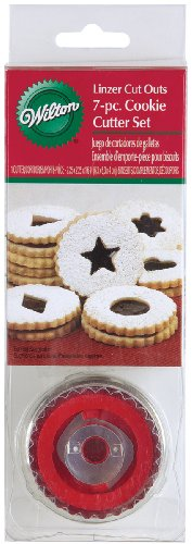 Wilton 7 Piece Round Linzer Cutter Set Linzer Cutter Set