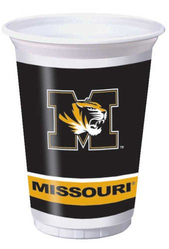 Missouri Tigers 20 oz. Plastic Cups, 8-Count