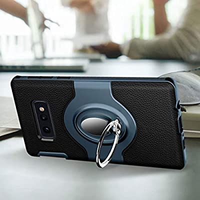 eSamcore Samsung Galaxy S10e Case Ring Holder Kickstand Cases + Dashboard Magnetic Phone Car Mount for S10e (2020 Release) [Navy Blue]: Electronics