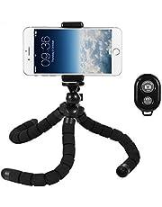 Deyard Soporte para trípode de Pulpo Grande Flexible Soporte Ajustable con Control Remoto Bluetooth para Cualquier cámara GoPro de Smartphone y cámara Digital