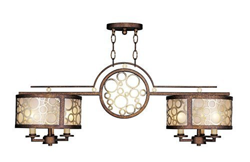 Livex Lighting 8672-64 Avalon Palatial Bronze with Gilded Accents Billiard/Island by Livex Lighting by Livex Lighting