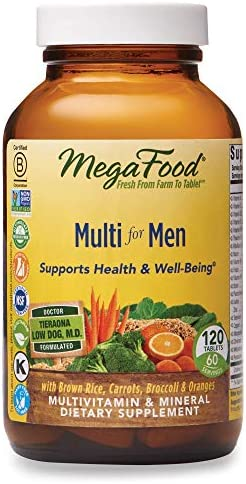 MegaFood, Multi for Men, Supports Optimal Health and Wellbeing, Multivitamin and Mineral Dietary Supplement, Gluten Free, Vegetarian, 120 tablets (60 servings) 1