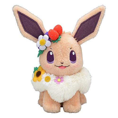 Pokemon Center Original Stuffed Plush Toy Eevee Easter Garden Party 20cm