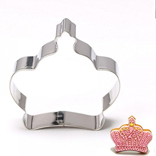Zehui Stainless Steel Cookie Cutter Biscuit Mold for DIY Biscuit Chocolate Fondant Cake Skirt High Heels Crown Are Available (Pentagon Cake Pan)