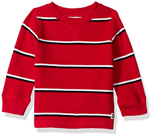 Crazy 8 Baby Boys Long Sleeve Basic Thermal, Crimson red, 12-18 mo