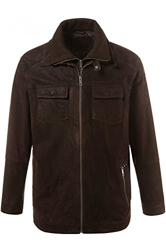 JP 1880 Homme Grandes tailles Veste en véritable Cuir - Style Motard - Fit marron XL 706524 30-XL