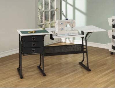 Cajón de mesa para máquina de coser, color negro: Amazon.es ...