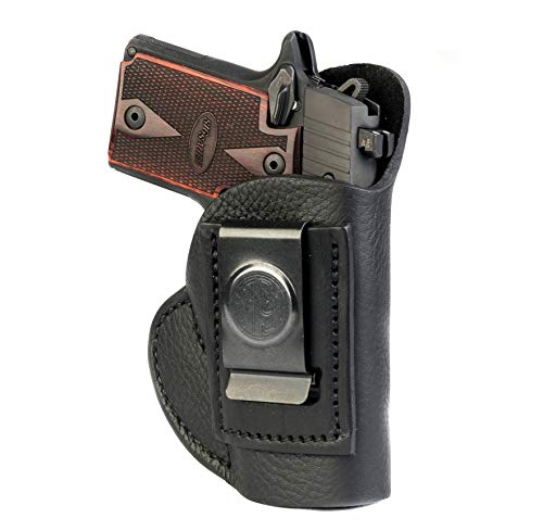 1791 GunLeather SIG P238 & P938 Premium Leather IWB CCW Holster - Super Soft & Comfortable Right Handed Leather Gun Holster - Fits Sig Sauer P238, Sig Sauer P938 (Best Pocket Holster For Sig P238)