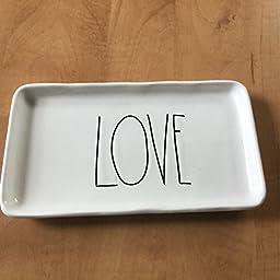 Rae Dunn/Magenta LOVE Trinket Dish 9 inches x 4.5 inches