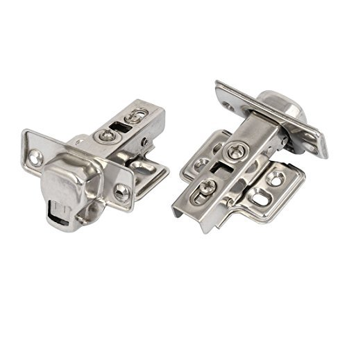 DealMux Face Frame Mount Self Closing Concealed Full Overlay Cabinet Door Hinges 2PCS