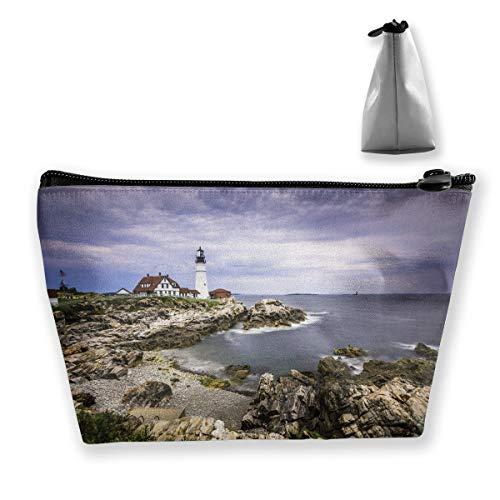 Portland Lighthouse Seascape Pen Stationery Pencil Case Cosmetic Makeup Bag Pouch
