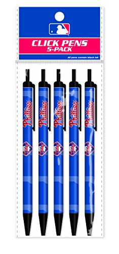Pro Specialties Group MLB Philadelphia Phillies 5-Pack Click Pens - Mlb Com Phillies