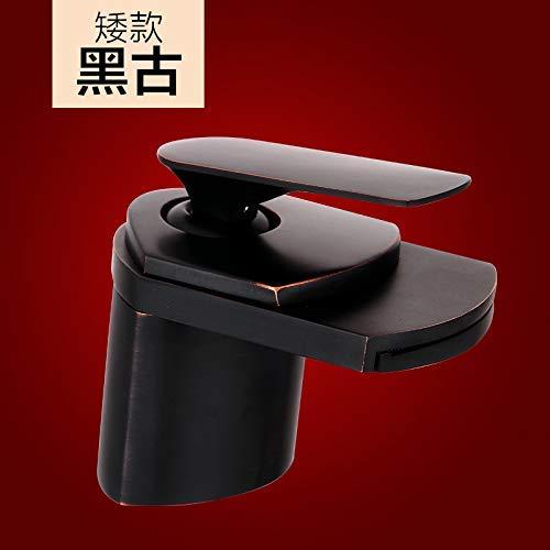 JingJingnet 洗面台ミキサータップすべての銅洗面台の蛇口の洗面台のシンクの単一の穴と冷たい水の蛇口の化粧台の洗面台は水から落ちる (Color : 5) B07S3RNVYG 5