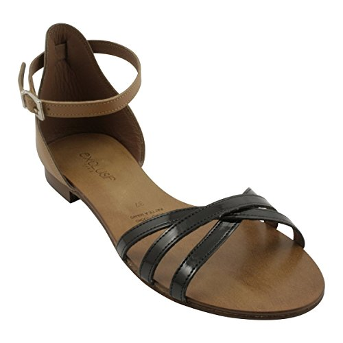 Exclusif Paris Women's Fashion Sandals Black hXOvqoD