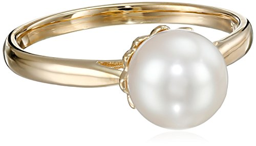 Akoya Cultured Pearl Ring with 14k Yellow Gold (8-8.5mm) Size 8