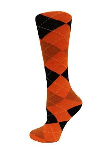 Oregon State Beavers Woven Jacquard - NCAA Oregon State Beavers Argyle Dress Sock, One Size, Black/Orange