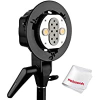 Godox AD-B2 Dual Power Twin Head Bowens Mount to Install 2 Godox AD200 Pocket Flash or Flashpoint eVOLV 200 TTL Modular Strobe Light Together to Achieve 400W Power Output With PERGEAR Cleaning Cloth