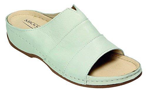 MICCOS Shoes Clogs, Pantoletten D.Pantolette 2373 white Nappa