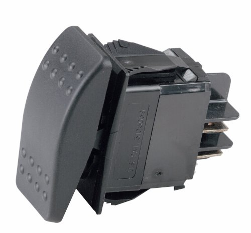 Ancor 554030 Marine Grade Electrical Sealed Rocker Switch (Double Pole/Single Throw, Constant On/Constant Off)