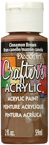 DecoArt DCA12-3 Crafter's Acrylic Paint, 2-Ounce, Cinnamon Brown