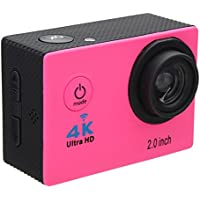 Aurorax Waterproof 4K Wifi HD 1080P Ultra Sports Action Camera DVR Cam Camcorder (Pink)
