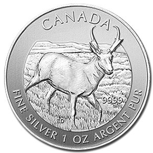 2013 CA Candian Wildlife Series Antelope Silver Coin Dollar Uncirculated