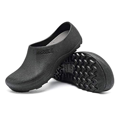 incarpo Men and Women Slip Resistant Clog Lightweight Chef Nurse Shoes Safety Working Shoes Black (Best Shoes For Female Chefs)