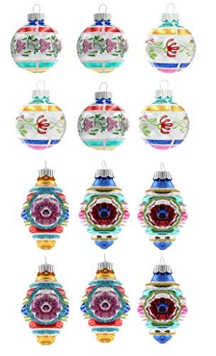 Radko Glass Ornament - Christopher Radko Vintage Confetti Glass Ornaments 1.75