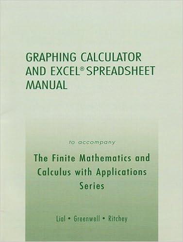 Kostenloser elektronischer ebook pdf download Graphing Calculator & Excel Spreadsheet manual to accompany the Finite Mathematics & Calculus W/Applicatns PDF CHM ePub