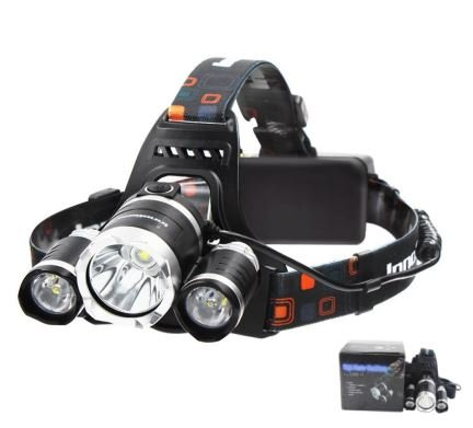 Oosder Brightest Headlamp 4 Modes LED Headlight, Waterproof Flashlight with 90º Moving Zoomable Light, 18650 Rechargable Battery Adjustable Headband,Best for Camping, Running & Hiking