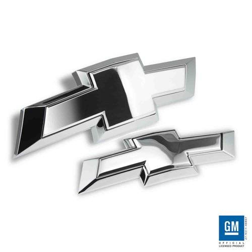 Polished Emblem Tie Bow - Billet Bowtie Grille Front/Rear Emblem 2016-2017 Chevy Tahoe/Suburban (Polished) TS273FRP
