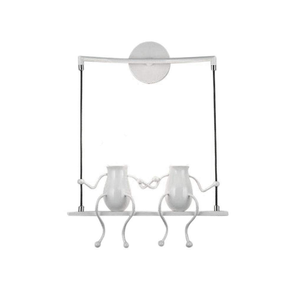 Creative Iron Doll Led Wall Lamp Nordic Bedroom Bedside Aisle Kids Baby Children' Room Cartoon Villain Swing Wall Light