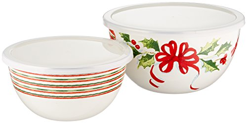 Lenox Home for The Holidays Bowls (Set of 2), Ivory