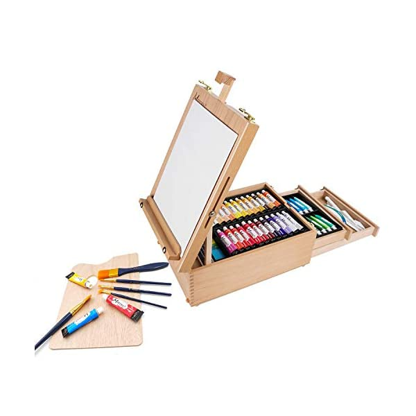MEEDEN-70-Piece-Premium-Acrylic-Painting-Set-Solid-Beech-Wood-Easel-box-48-Colors-Acrylic-Paint-22ml-and-All-The-Additional-Supplies-Perfect-Gifts-for-Beginning-Artists-Students-and-Kids