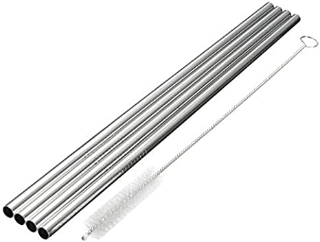 OKIl 4Pcs 30oz Stainless Steel Straws Yeti Tumbler Rambler Accessories with Cleaning Brush - - Amazon.com