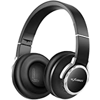 NEXGADGET Bluetooth Headphones Over Ear, Hi-Fi Stereo Wireless/Wired Headphones Foldable Headset with Microphone for Cell Phones/PC/TV (24-Hour Playtime, Soft Protein Earmuffs, Noise Cancelling)