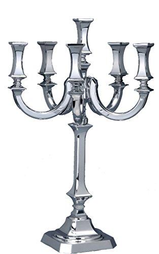 Hazorfim Bagatel Silver Candelabra 6 Branches Shabbat candelabra sterling silver judaica Israel Jerusalem Holy Land gift Sabbath candlesticks candles light 925 hatzorfim by Hazorfim