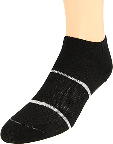 Wrightsock Anti-Blister Double Layer Running II Lo Quarter, White with Black Accents, Small