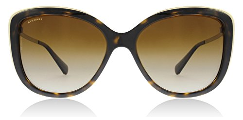 Bvlgari BV6094B 278/T5 Dark Havana BV6094B Cats Eyes Sunglasses Lens Category 3