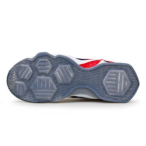 Amzmine Paar Heren Dames Schokabsorptie Hardloopschoenen Sneakers Basketbalschoenen Rood
