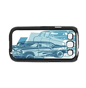 Classic Blue Muscle Cars Hard Snap on Phone Case For Iphone 6 Plus 5.5 Inch Cover