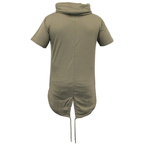 Herren Lange Linie Top Mit Kapuze Tarnmuster Militär Fischschwanz T-shirts Von Soul Star - Khaki - HUSKYPKA, Medium